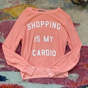 WILDFOX shopping is my cardio pullover